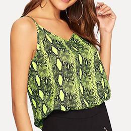 Camicie senza maniche camis online-Estate Sexy Leopard Halter Camis Donna Sexy Strappy T-shirt da donna scollo a V senza maniche Top Tee Vest serbatoio S-2XL