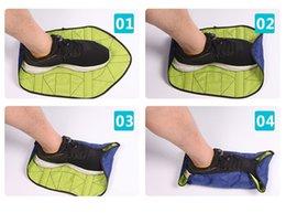 Calzature scarpe online-Step In Sock Peculiar Portable Automatico Copriscarpe Pieghevole Eco Friendly Riutilizzabile Pigro Shoe Covers Antiusura Nuovo Arrivo 11 5zyI1