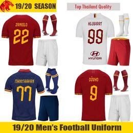2019 ronaldo jersey giovani 19 20 AS Roma Calcio Uniformi TOTTI 2019 Set 2020 DZEKO maglie calcio CENGIZ SOTTO Kolarov Palloni Kit Smalling Kluivert Calcio