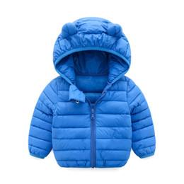 baby boy snow coat Rebajas MUQGEW Ropa de bebé Chlidren Chicos de invierno Chaqueta de invierno Chaqueta Niños ZipThick Ears Snow Hoodie Ropa