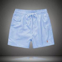 Ropa de surf online-2019 Pantalones cortos de surf de secado rápido a rayas de marca Ropa de marca Tamaño balred pantalones cortos para hombres Ropa de moda de verano Ropa de nado en la playa