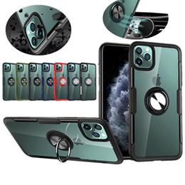 Supporto dell'anello chiaro PC Phone di caso per iPhone 11 Pro Max XS 8 7 6s Inoltre Car Mount magnetico della copertura posteriore del metallo duro da