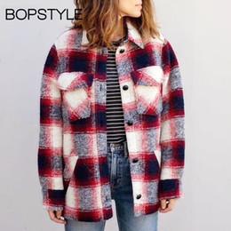 2018 Herbst Damen Buttoned Winter Neueste Checkered Jacket Frauen Sleeves Rot Kontrast Jacke Gelb Gingham Plaid Revers Long N0v8Omwn