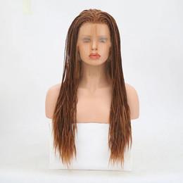Canada cheveux lala! Peut laver les perruques frontales en dentelle synthétique avec des cheveux de bébé tresse perruque synthétique sans colle résistant à la chaleur Offre