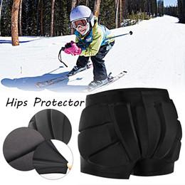 2020 almofada de hip-hop Calças esqui proteção Hip pad Corpo de Protecção acolchoado Shorts Hip buand Tailbone 3D hóquei proteção para Snowboard Skate Ski almofada de hip-hop barato