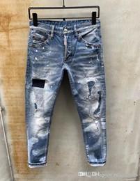 nuevo diseño de moda de marca pantalón Rebajas 19 NUEVA MARCA FAMOSA fashion Ba HOMBRE LAVADO DISEÑO CASUAL SLIM SUMMER LIGHTWEIGHT DENIM STRETCH DENIM SKINNY JEANS PANTALONES Straight TROUS
