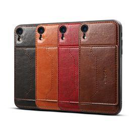 2019 cartão protetor Premium pu leather case com slot para cartão caso capa protetora para iphone xs max xr 8 plus samsung s10 m10 m20 a8s s9 desconto cartão protetor