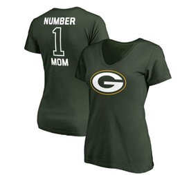 moms t shirt Coupons - Women's Green Bay Mothers Day Packers Pro Line Royal #1 Mom V-Neck T-Shirt Gift For Mother Free Shipping
