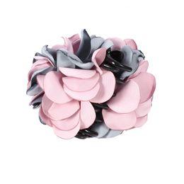 Pente para cabelo on-line-Moda Feminina Fio Artesanal Grande Pano de Flor de Plástico Grampo de Cabelo Garra Headwear Acessórios Para o Cabelo Barrettes Combs Pin Hot