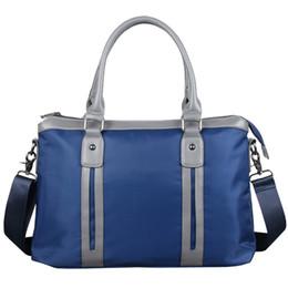 tendencias de la computadora Rebajas PPYY NUEVO -Moda Trend One Shoulder Men'S Bag Casual Business Briefcase Computer Bag Archivo Bolso Azul