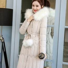 7e0b096829a womens winter jackets and coats 2018 Parkas for women 4 Colors Wadded Jackets  warm Outwear With a Hood Large Faux Fur Collar