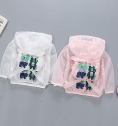 Giacche per animali da ragazzi online-Cartoon animali giacca di protezione solare estate felpe baby beach camicia ragazzi ragazze bambini ragazzi giacca a vento impermeabile abbigliamento