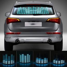 Niscarda Car Azul LEVOU Ritmo Da Música Luz Do Flash Sensor de Som Ativado Equalizador Traseiro Brisa Etiqueta Styling Kit de Lâmpada de Néon de