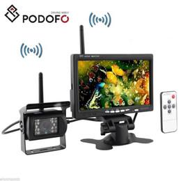 2019 caméras de recul Podofo Caméra de recul inversée sans fil IR Night Vision 7