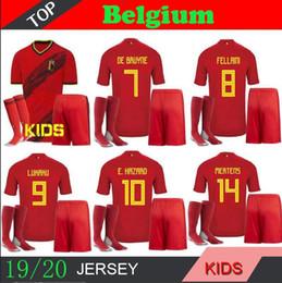 Belgique Belgique DE Kit Bruyne maillots de football à domicile 2018 2019 2020 ENFANTS DANGER chemise de football Lukaku Chemisette futbol KOMPANY DEMBELE MAILLOT ? partir de fabricateur