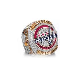2019 l'anello di marina anchor 2018NHL Hockey su ghiaccio Washington Capitalist Fans Champion Ring New Spot Full Size [Alta qualità] Anello maschile