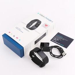 compteur de sang oxygène au poignet Promotion Fitbit CHARGE2 intelligent Bracelet Fitness Tracker Montre de fréquence cardiaque intelligent Watchband intelligent pour Apple Android Wristband Cellphones avec Box