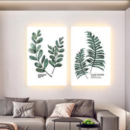 Pinturas led online-estilo nórdico sala de estar lámpara de pared pintura decorativa creativas pinturas restaurante lámpara de pared minimalista moderna porche LED