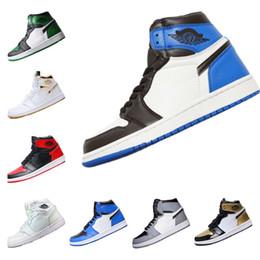 separation shoes 5ad9d bccc6 Mens 1s Top Pine Green Court Lila Chicago OG 1 Spiel Royal Blue Basketball-Schuhe  Rückwand Sport Sneaker Designer Trainer Größe 6,5-12