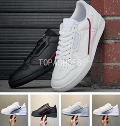 zapatillas de hombre de cuero blanco Rebajas Venta al por mayor 2018 Antique Continental 80 Rascal Leather x Kanye West con zapatos casuales blancos OG Core Aero Men Fashion Sneakers 40-45 adidas