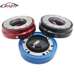 Комплект для быстрого выпуска рулевого колеса онлайн-RASTP-Бесплатная доставка Универсальный автомобильный тонкий быстросъемный руль Snap Off Hub Adapter Boss Kit Алюминий 6 отверстий RS-QR003