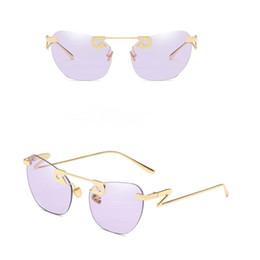 Broche para óculos on-line-Zowensyh New brooch metálico óculos de sol decorativos para senhoras oceano fatia venda quente óculos de sol UV400 óculos de sol