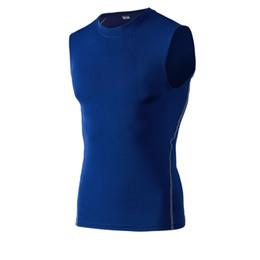 HOT 2019 Outdoor Sport Men pro tights da fitness Elastico senza maniche a rapida asciugatura maglia di pallacanestro tuta da allenamento in esecuzione da