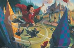 harry potter impressão Desconto Harry Potter - QUIDDITCH Art Silk Poster 24x36 polegadas 24x43 polegadas 0585