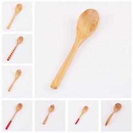 cucharas japonesas Rebajas Cucharas de madera japonesas de moda con manijas largas y cucharas de café Nuevos tipos de cucharas de comedor T3I5030