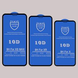 10D temperli cam ekran koruyucu üzerinde Iphone için XR XS MAX X 8 7 6 S artı kavisli tam kapak yapışkan tutkal koruyucu cam filmi nereden