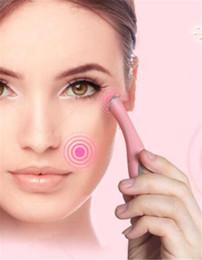 caneta de massagem para os olhos Desconto Hot Saúde Mini Eye Massagem Dispositivo Pen Tipo Olho Massageador Elétrico Facials Vibração Fina Rosto Magia Vara Anti Bag Bolsa Rugas