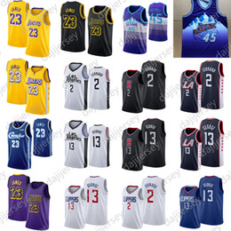 Camisas de basquete paul george on-line-NCAA 23 James Jersey Donovan 45 Mitchell Camisa Paul 13 George 2 Leonard Homens Basketball Jerseys