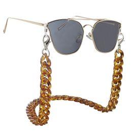 Acryl kettenglieder online-Sonnenbrille-Kettenkühle starke Schildkröten-Brillen-Rahmen-Schnur-Acrylart- und weiseglas-Kettenweinlese-große Brillen-Verbindung 10 Farben 12pcs / lot