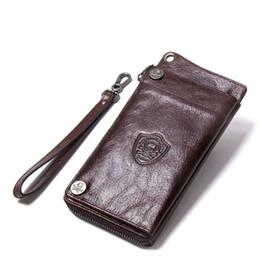 Кошелек стиль сотовый телефон владельца онлайн-2019 натуральная кожа винтаж деловой человек кошелек европейский и американский стиль мода кошелек сцепления с 13 держатель карты сотовый телефон сумка M1240