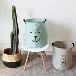 ropa dificulta Rebajas Nueva gran bolsa de cesta de lavandería de dibujos animados ropa encantadora cestas de almacenamiento Ropa para el hogar Bolsas de barriles Juguete para niños Cesta de lavandería