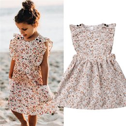 6b02d885237a 2019 Summer Kids Girls Floral Sleeveless Tutu Dresses Princess Party Casual Dress  Kid Girl Clothes Dress Vestido Children Fashion Boutique