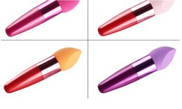 2019 belleza mezclador colores Muchos Colores Base de Maquillaje Esponja Puff Blender Mezcla Flawless Powder Smooth Cosmetic Smooth Puff cepillo Belleza Herramienta Aplicadores Cott rebajas belleza mezclador colores