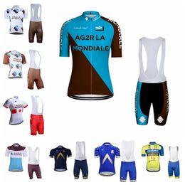2019 bicicleta de carreras azul AG2R Aqua Blue Aqua Protect Veranclassic team  Ciclismo Mangas cortas jersey c7b9e468bdef