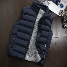 2019 Vest Homens New Elegante Primavera Outono casaco quente mangas Vest homens inverno Homens Colete Casual Coats Homens Plus Size - 5XL DT191029 de