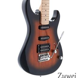 12 cordas mão esquerda Desconto 6-string Custom Shop Estilo AST Guitarra Elétrica Sunburst Cor Tremolo Ponte Corpo Sólido De Mogno Corpo Chrome Hardware