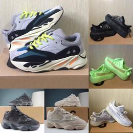 zapatos de kevin durant para niños Rebajas New Kids Shoes Kanye West V2 Wave Runner 700 zapatillas de chicas 500 del niño del niño zapatillas de deporte del instructor de los niños los zapatos atléticos Negro Rojo