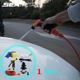 pistola de agua eléctrica Rebajas 12V Car Wash Gun Automóviles Bomba de agua Herramienta Coches Cuidado Lavadora Limpiador eléctrico Lavado automático Herramienta de mantenimiento Detallado de automóviles