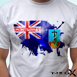 2019 paesi bandiere rosse Montserrat flag - maglietta bianca top country mens orgoglio bianco nero grigio rosso pantaloni tshirt abito cappello rosa t-shirt paesi bandiere rosse economici