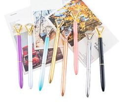 Neue Designer 13 Farben Kreative Diamant Kugelschreiber Mit Großen Edelstein Metall Magische Luxus Stift Mode Schule Bürobedarf weihnachtsgeschenke von Fabrikanten