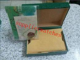 Envío gratis Reloj de lujo Para hombre Para caja de reloj Rolex Caja de reloj de pulsera original interior mujer exterior Cajas Hombres Reloj verde 805 desde fabricantes