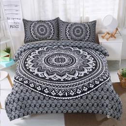Sistemas del lecho estilo de país online-Juego de cama King Size Flower Country Style Funda nórdica impresa en 3D Queen Black Double Twin Full Single Bed Cover con funda de almohada 3pcs