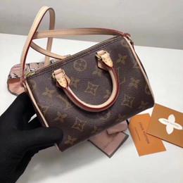 Borsa in pelle per bambini online-Mamma e capretti Mini Leather Canvas Marca Old Floral Pattern Messenger Bag Borsa del telefono Borsa a tracolla Satchel Nano cuscino borsa a mano