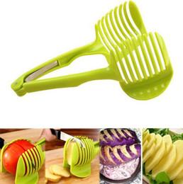 En tenant des clips en Ligne-Slicer citron tomate Trancheur à fruits Tomate Trancheuse Coupeur de fruits Chopper Coupeur de tranches de tomate KKA6859