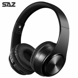 il mic del bluetooth migliore Sconti Saz Bluetooth Cuffie per cuffie Bass Sport Supporto per cuffie Tf Aux con microfono per PC portatile Cuffie portatile Best T6190617
