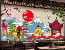 2019 paredes cubiertas de madera Papel tapiz 3d foto mural personalizada Vintage estilo japonés restaurante de sushi cocina japonesa murales papel tapiz 3d paisaje tapiz de pared 3d
